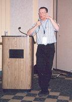 Cor tijdens presentatie
