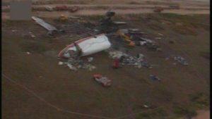 Restanten DC-10 Anthony Ruys na de crash in Faro